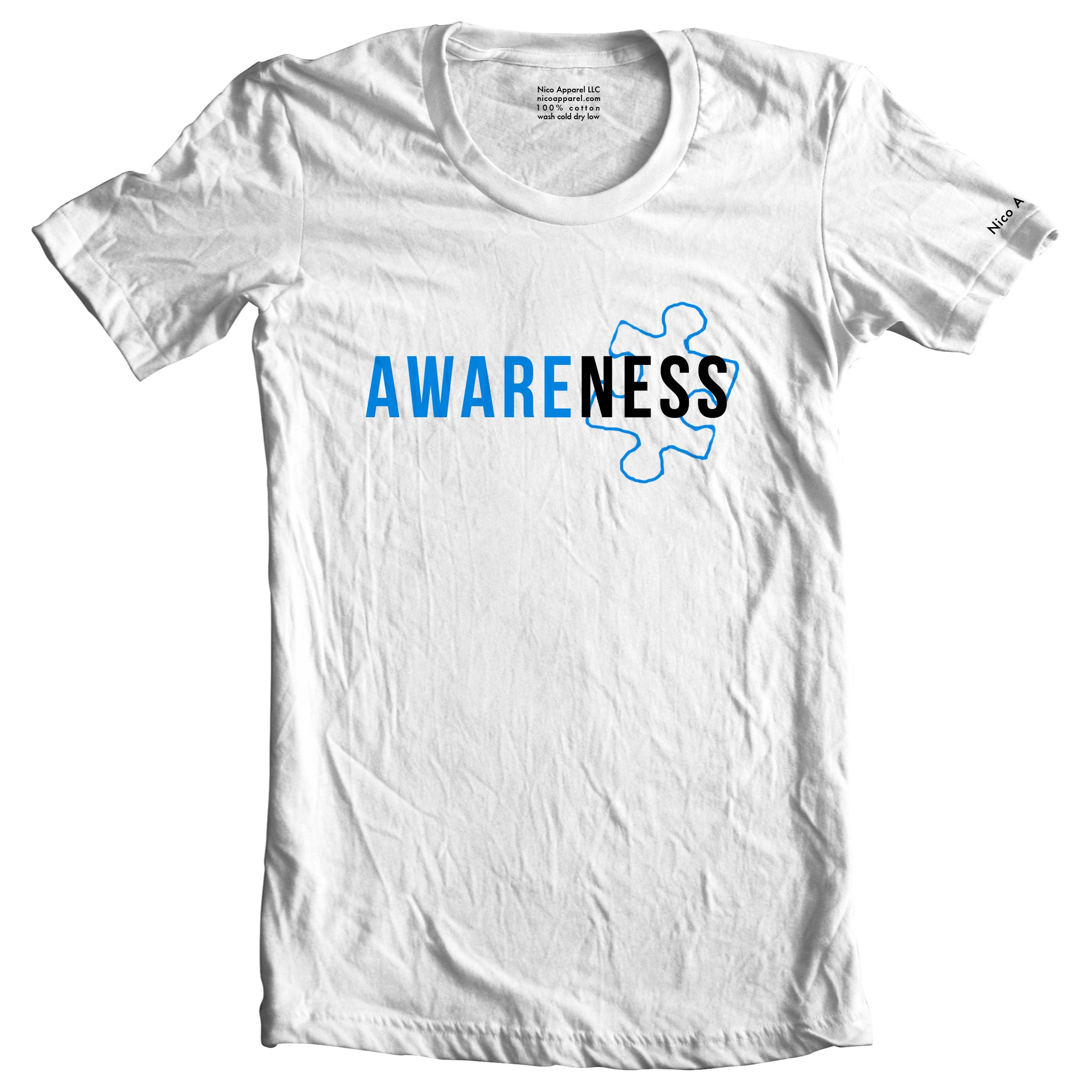 $5 from each shirt sold goes to the National Autism Association.