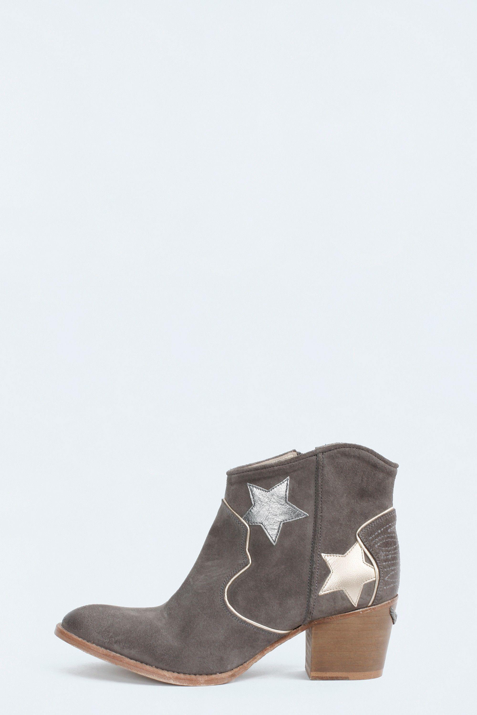 Bottines & low boots à talons ZADIG & VOLTAIRE cuir irisé noir 40 Grgd6y