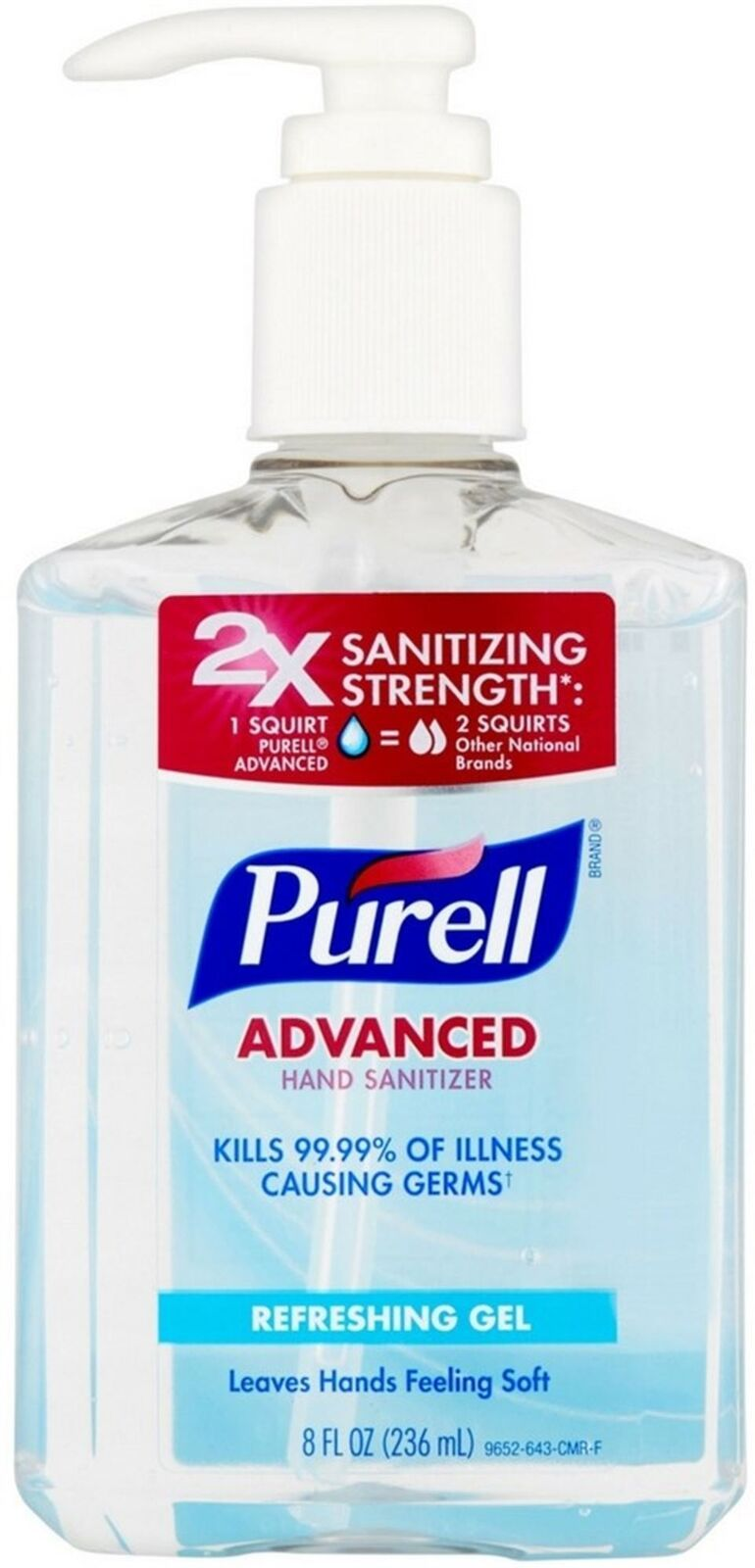 Details About Purell Advanced Hand Sanitizer Refreshing Gel 8 Oz