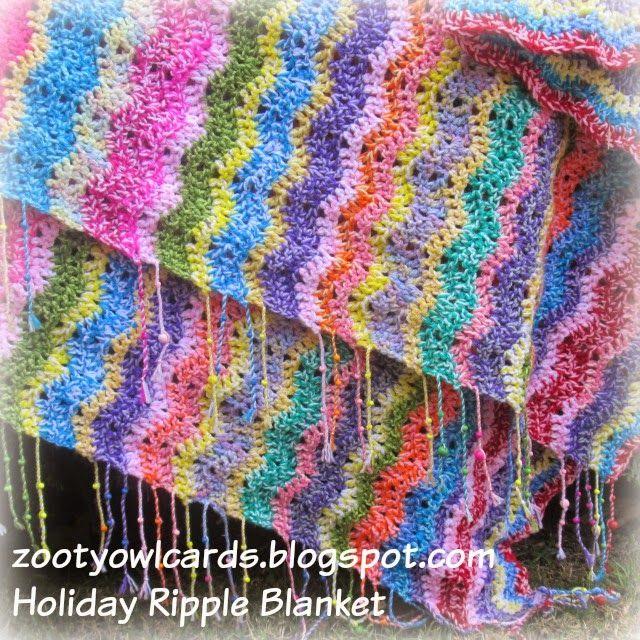 crochet ripple blanket   Haken afghans, kussens en kleden ...