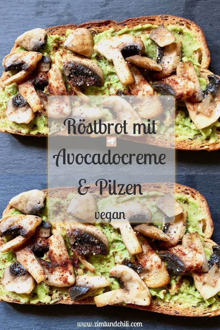 Toasted bread with avocado cream and mushrooms  - Gemüse -