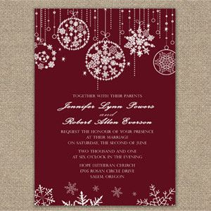 Merry Christmas Inspired Red And Green Wedding Ideas Invitations