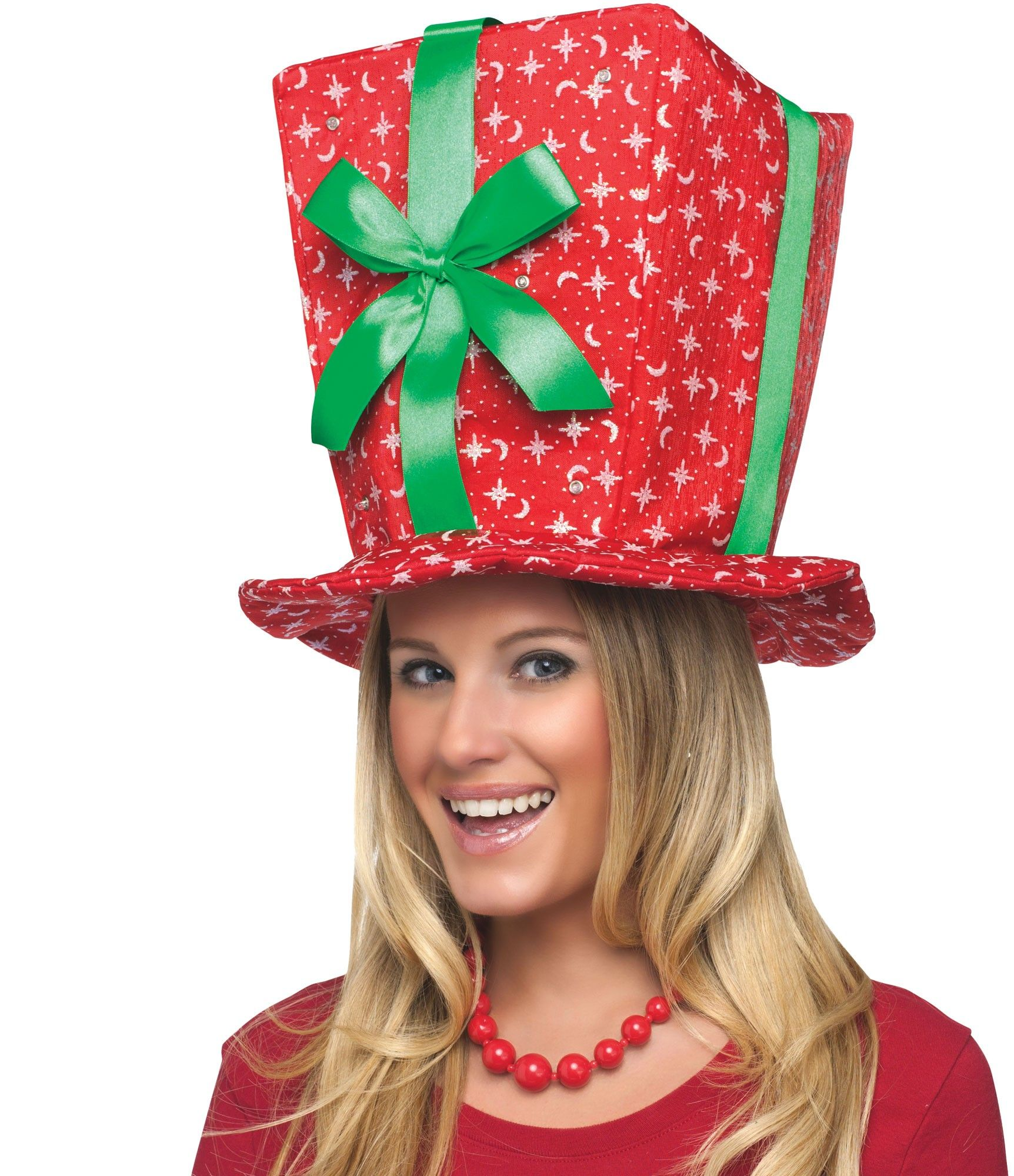 Christmas Present Hat - Santa Suits & Costumes - by Fun World ...