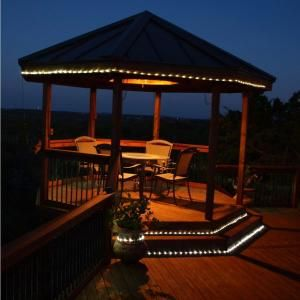 Solar String Lights Home Depot Pleasing Hampton Bay 16 Ftsolar Integrated Led Clear Rope Light With Solar Decorating Design