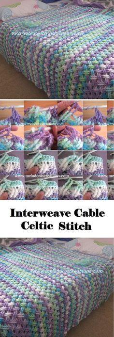 Interweave Cable Celtic Stitch (Blanket | Häkelmuster, Häkeln und Decken