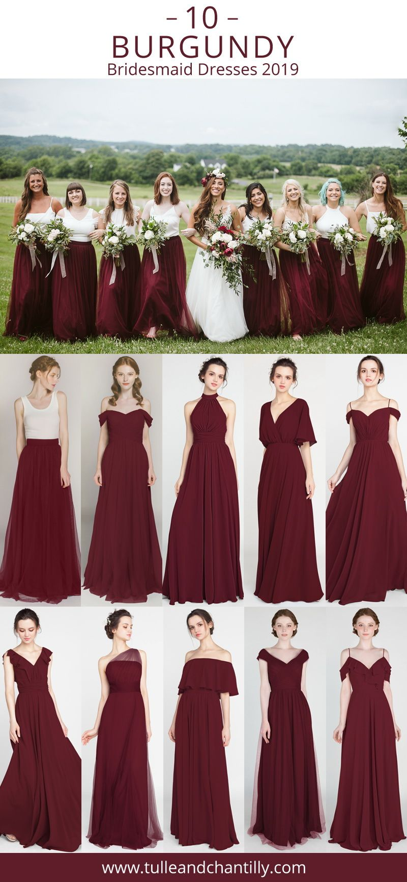 Long Short Bridesmaid Dresses 80 149 Size 2 30 And 50 Colors Burgundy Bridesmaid Dresses Bridesmaid Dresses Wine Red Bridesmaid Dresses