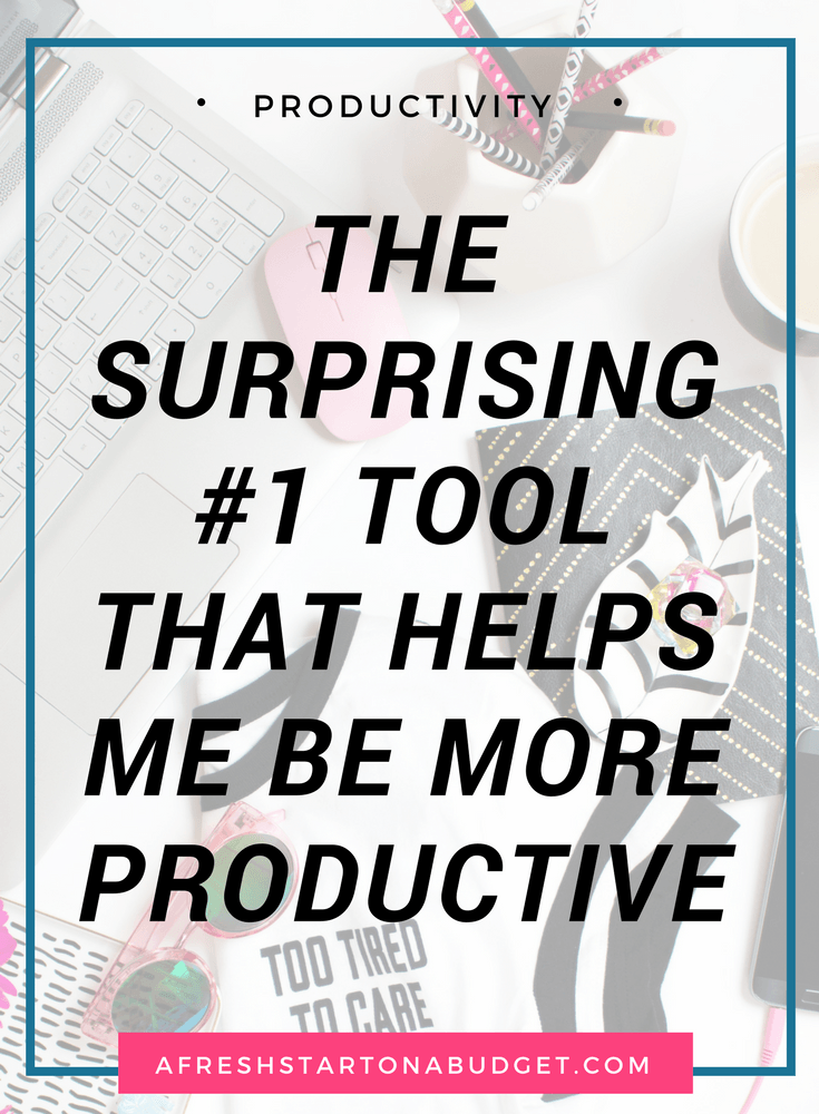 Here is the simple tool that helps me be more productive and helps me do more both around the house and in my business. It might surprise you