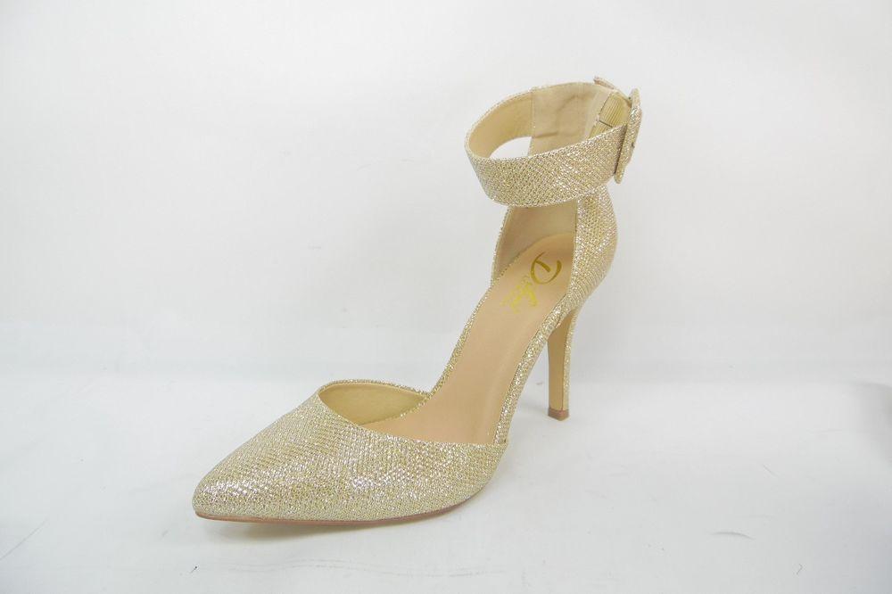 1a29a6b67ed Diba London Pizazz Ankle-Strap Womens Pumps Gold Size 10 M New ...