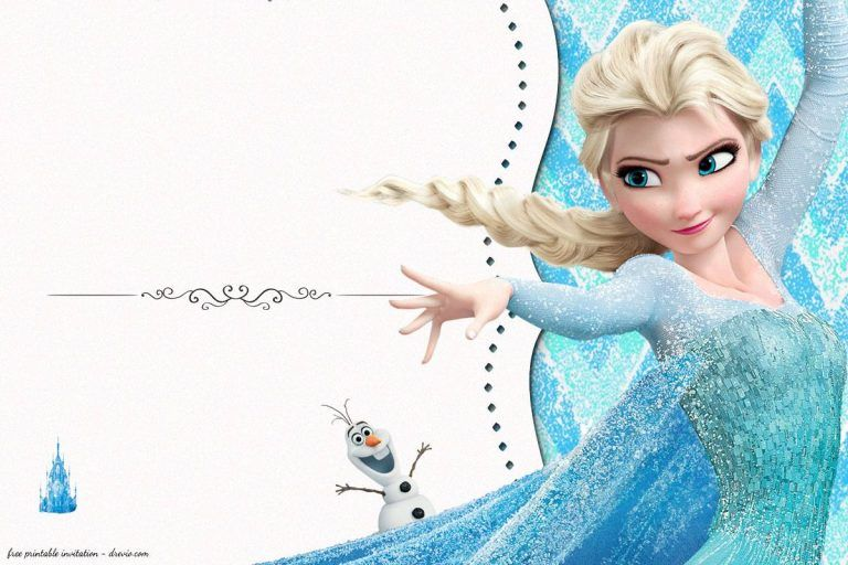 FREE Frozen Birthday Invitation Templates Anniversaire