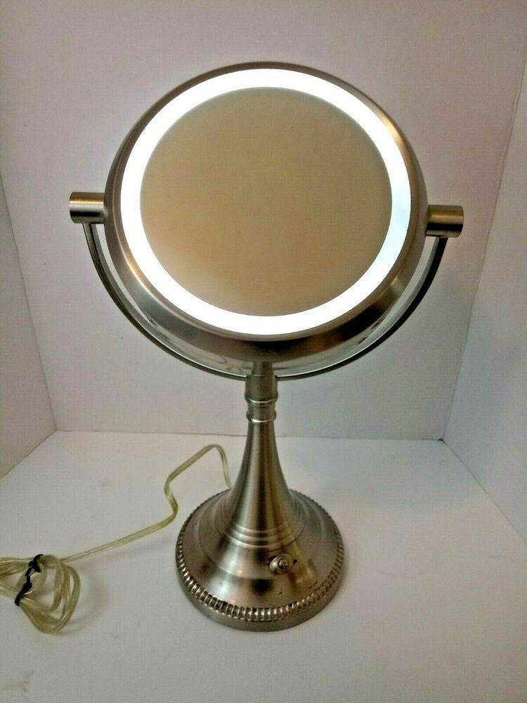 Hwa Feng Lighting Tabletop Vanity Makeup Mirror Magnifying Ring Light Hwafeng Makeup Vanity Makeup Mirror Mirror