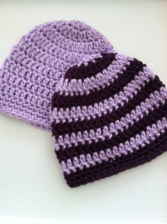 Lavender And Purple Prep Set Crochet Baby Hats Newborn Etsy Crochet Baby Beanie Crochet Baby Hats Crochet Baby