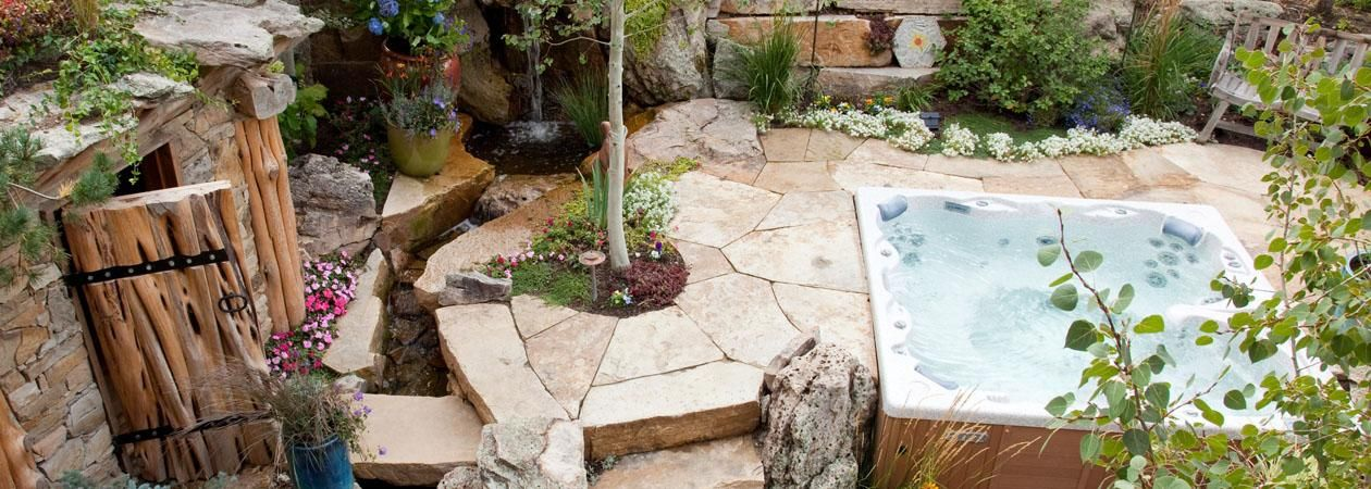 I Need One Of These Hot Tub Outdoor Hot Tub Landscaping