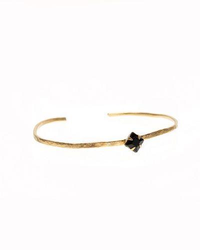 Simple black diamond cuff
