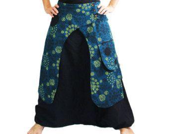 Harem Pants Grey Aladdin Trousers Afghani Pants by manaKAmana
