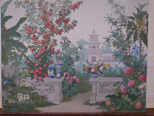 panoramique de chez zuber jardin japonais 4 l s 1 papier peint hand painted wallpaper. Black Bedroom Furniture Sets. Home Design Ideas