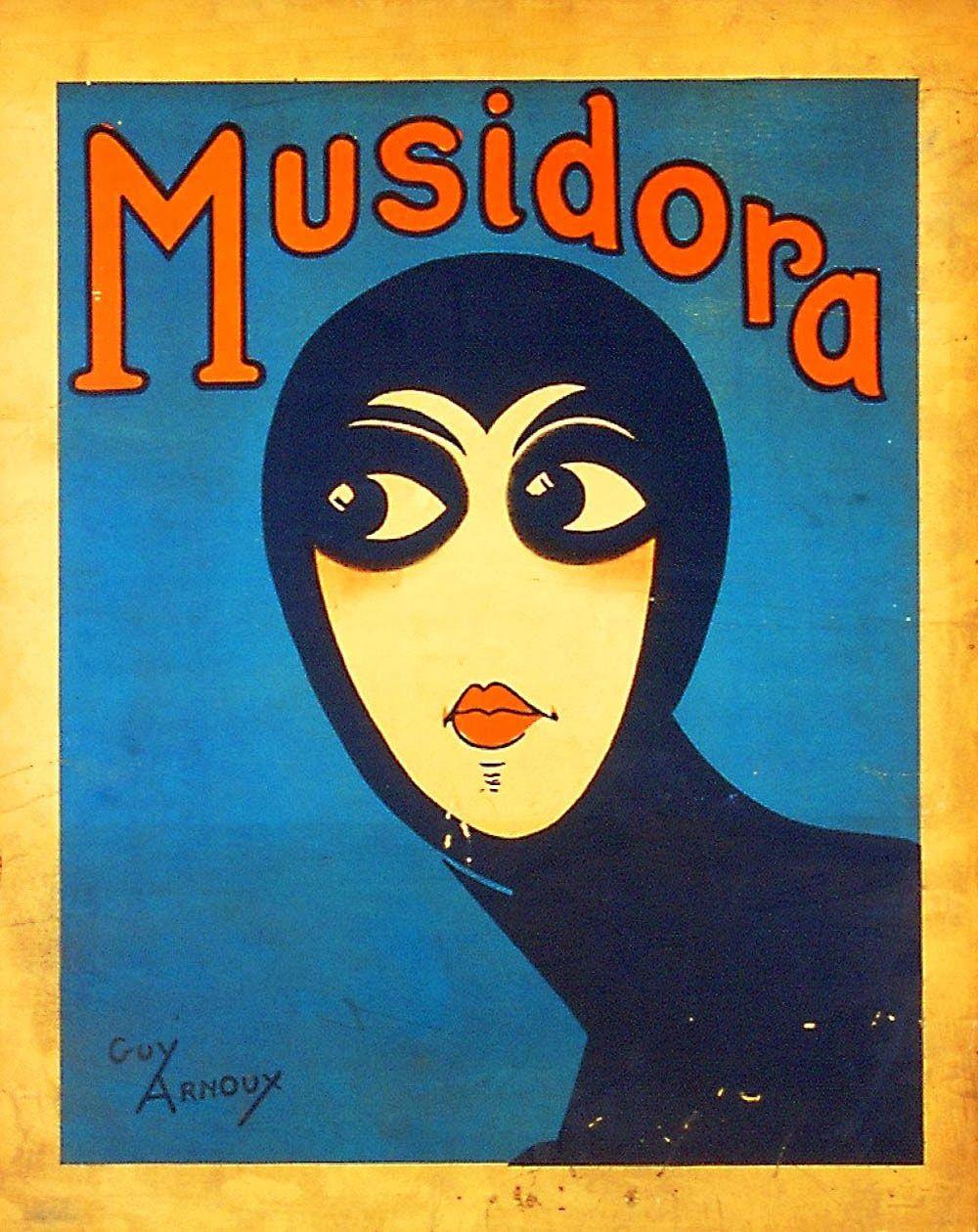 Guy Arnoux, Les vampires poster of Musidora as Irma Vep, 1915
