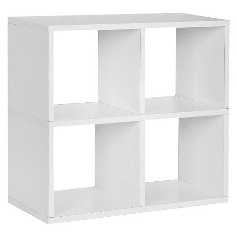 Target Way Basics Eco 4 Cubby Bookcase Stackable Organizer And Storage Shelf White Storage Shelves Under Desk Storage Cube Bookcase