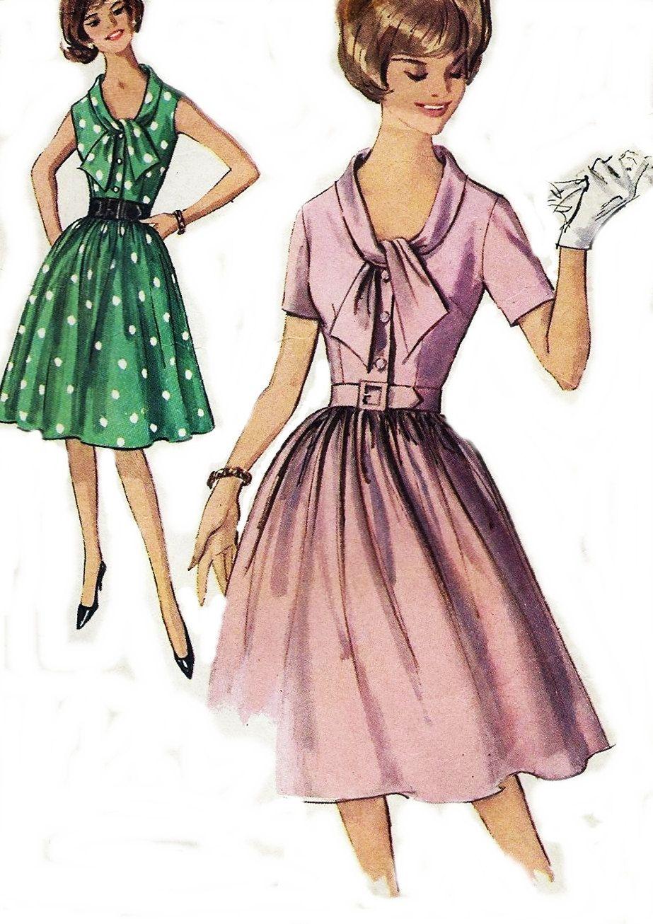 60s Vintage Step In Dress Simplicity Pattern 4905 Paris Fashion ...