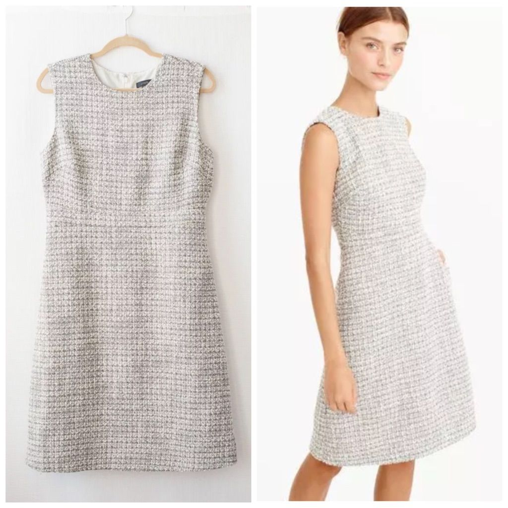 Jcrew aline dress in shimmer tweed tweed and products