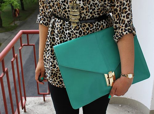oversized clutch and cheetah print! | Fashion x Style | Pinterest ...