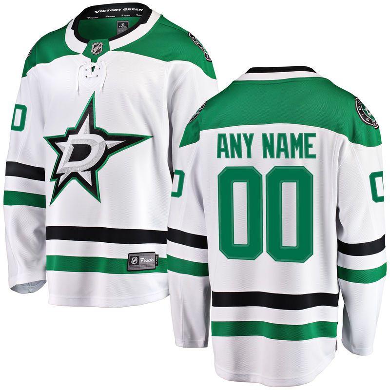 Dallas Stars Fanatics Branded Away Breakaway Custom Jersey - White ... c45ae7cab