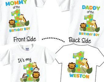 4 Birthday Shirts Set for Family Birthday Shirt Set por TheCuteTee