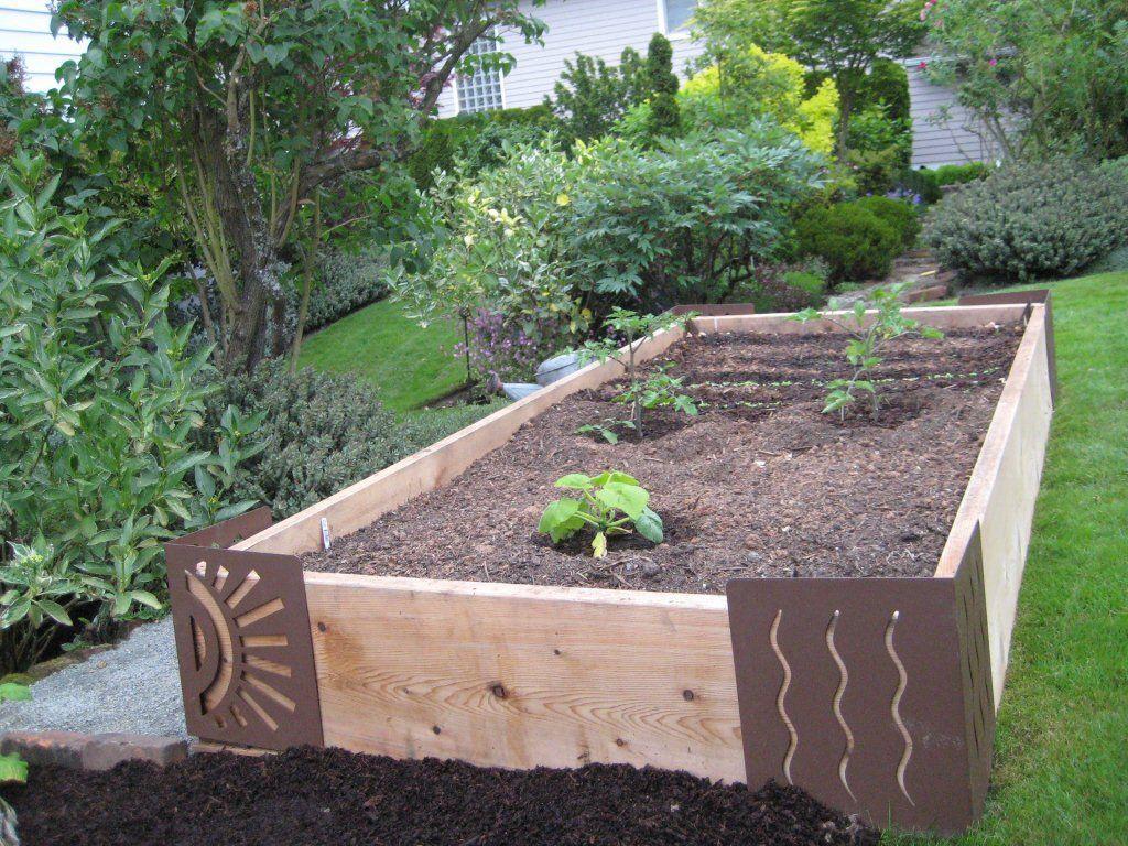 raised veggie garden metal ends