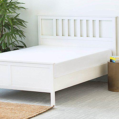 LINENSPA Premium Mattress Protector - 100% Waterproof - Hypoallergenic - 10 Year Warranty - Vinyl Free - Queen / White //http://bestadjustablebed.us/product/linenspa-premium-mattress-protector-100-waterproof-hypoallergenic-10-year-warranty-vinyl-free-queen-white/