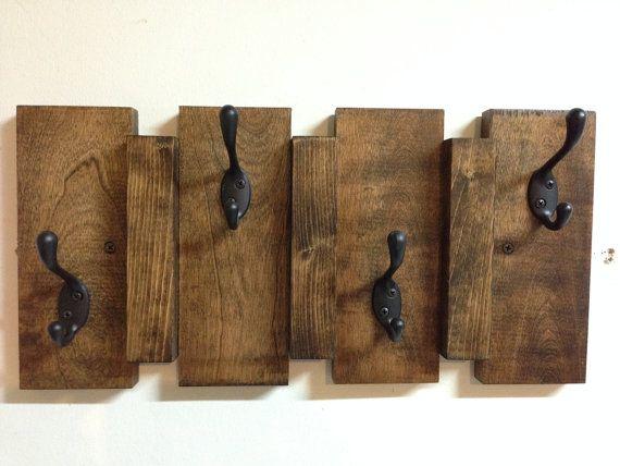 Rustic coat rack, wall coat rack, entryway coat hook rack