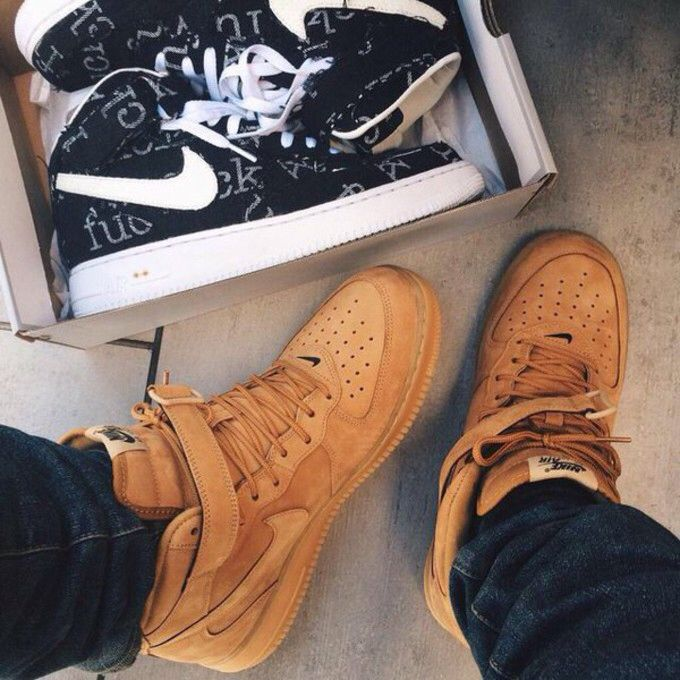 the latest 4bebf afab5 Nike Air Force 1 flax mid wheat More