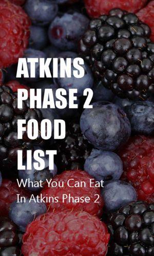 Atkins Phase 2 Food List #atkinsmeals