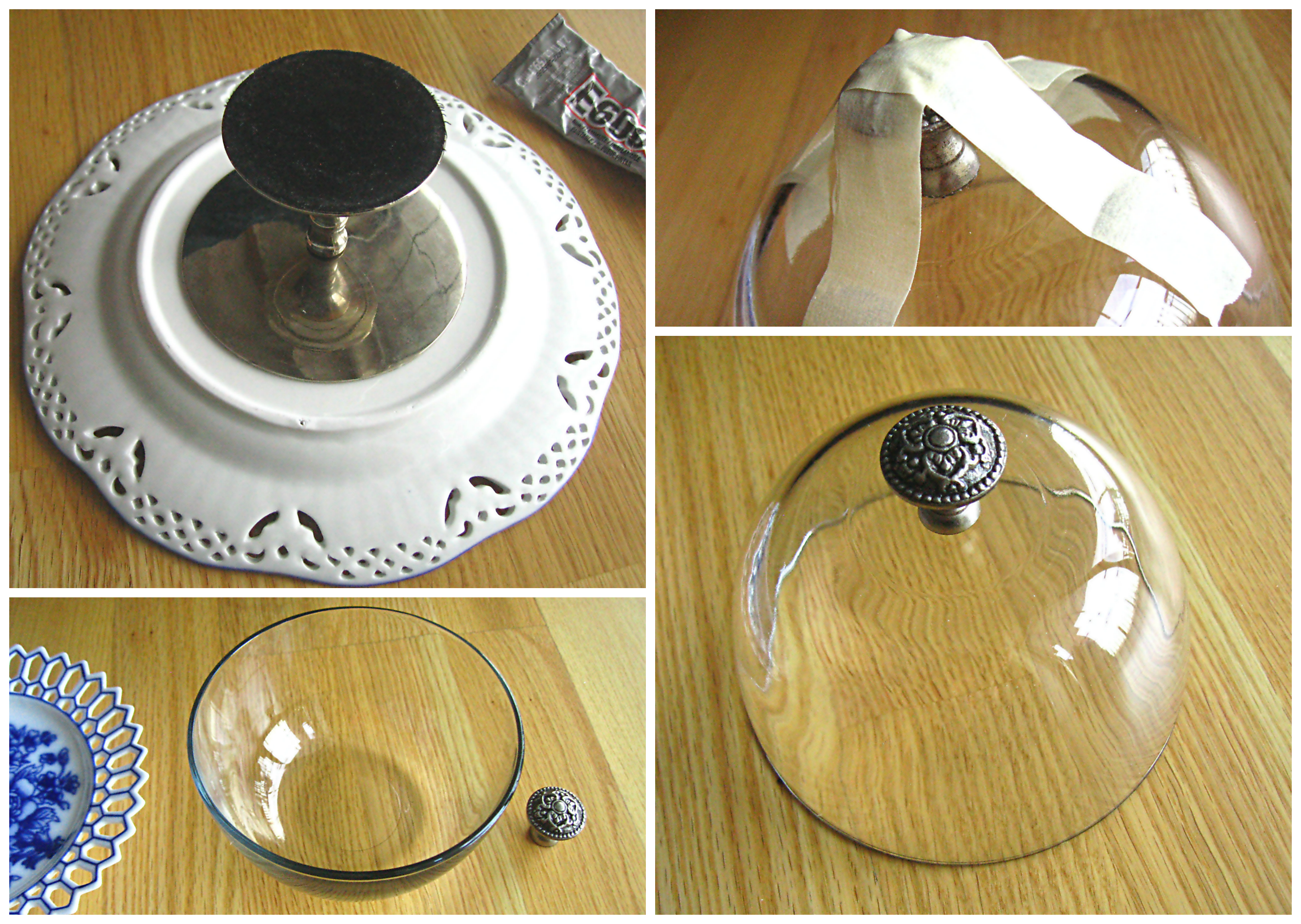 DIY Mini Domed Cake Plate u0026 Cake Stand | Ode to Inspiration : diy cake plate - pezcame.com