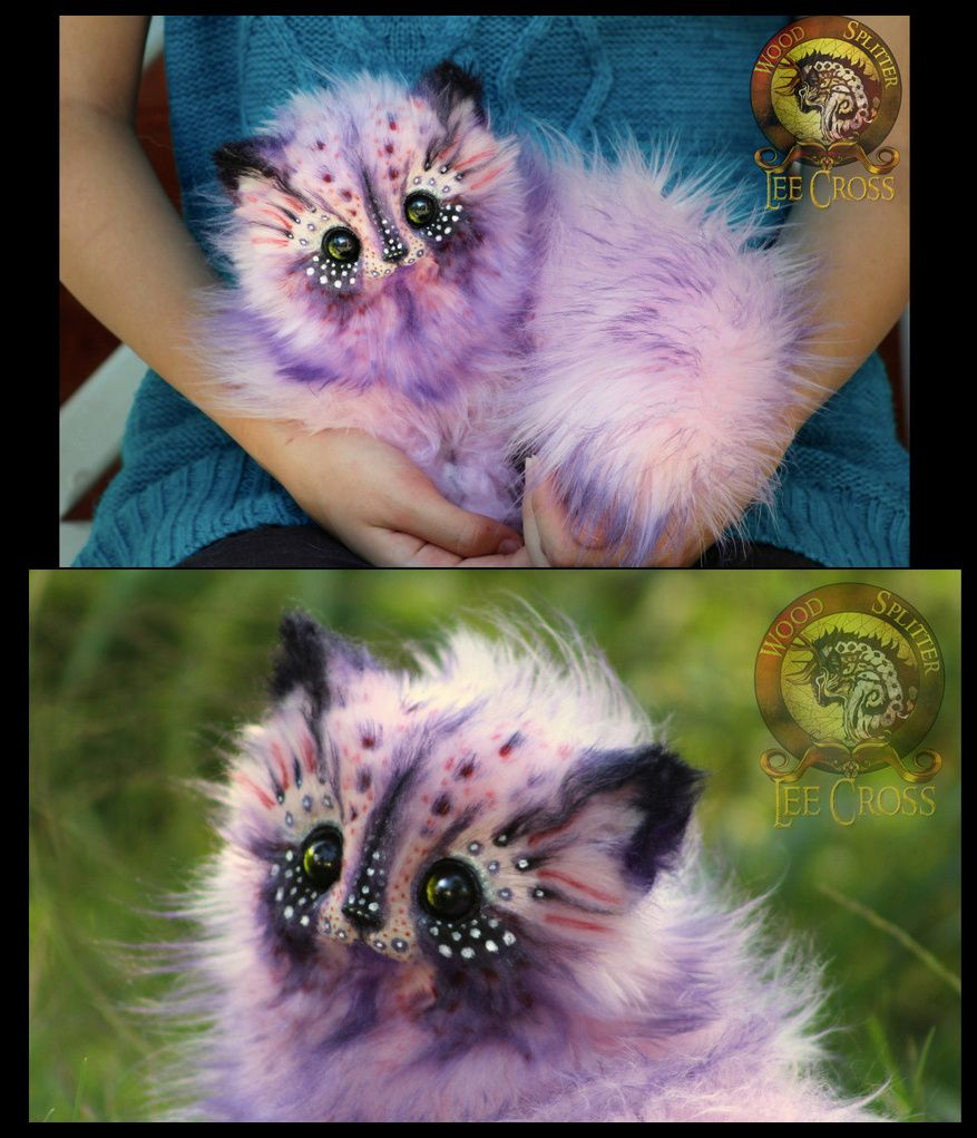 Cotton Candy Kitten Cute Fantasy Creatures Fantasy Art Dolls Wood Splitter Lee
