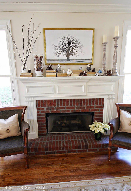 Paper Daisy Designs: Cheerful Winter Mantle & Winter Scene