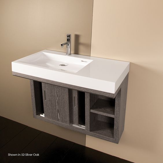 Lacava 5101a Libera Wall Mounted Under Counter Vanity With