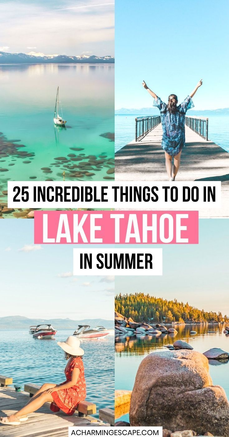 Lake Tahoe is an alpine lake located over 6000ft above the sea in the Sierra Nevada mountain range. With crystal clear beaches, breathtaking hikes and views of snowcapped mountains. Lake Tahoe is one of those bucket list places that you should visit at least once in a lifetime.  Check out these 25 Incredible Things to do in Lake Tahoe in Summer. Lake Tahoe in Summer | Things to do in Summer |Lake Tahoe Summer Things to do |  Lake Tahoe, California | Lake Tahoe Summer Vacation