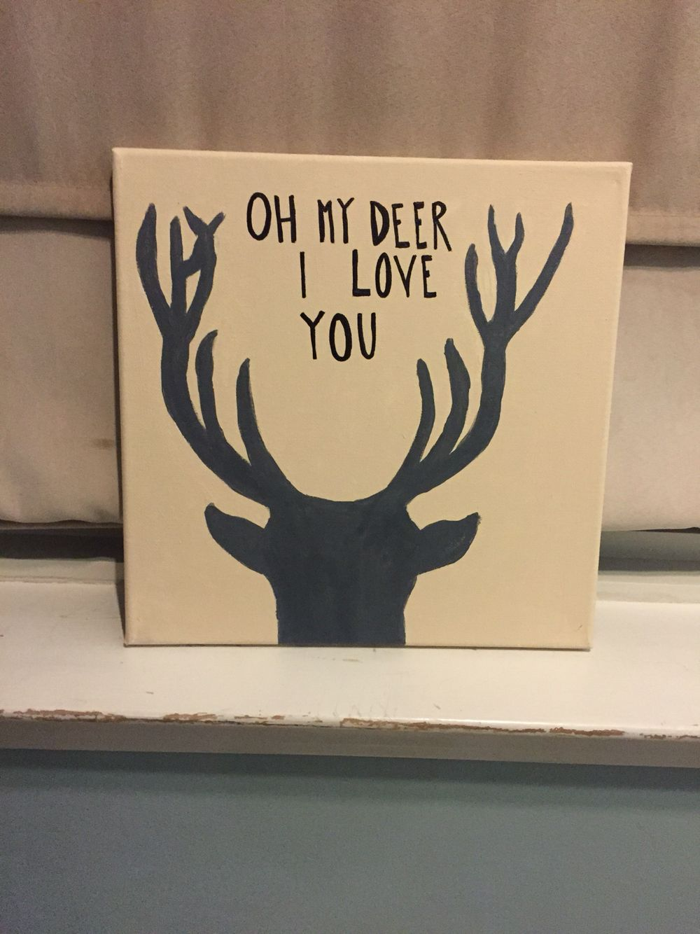 Deer canvas- couple canvas, boyfriend diy, girlfriend/wife of a ...