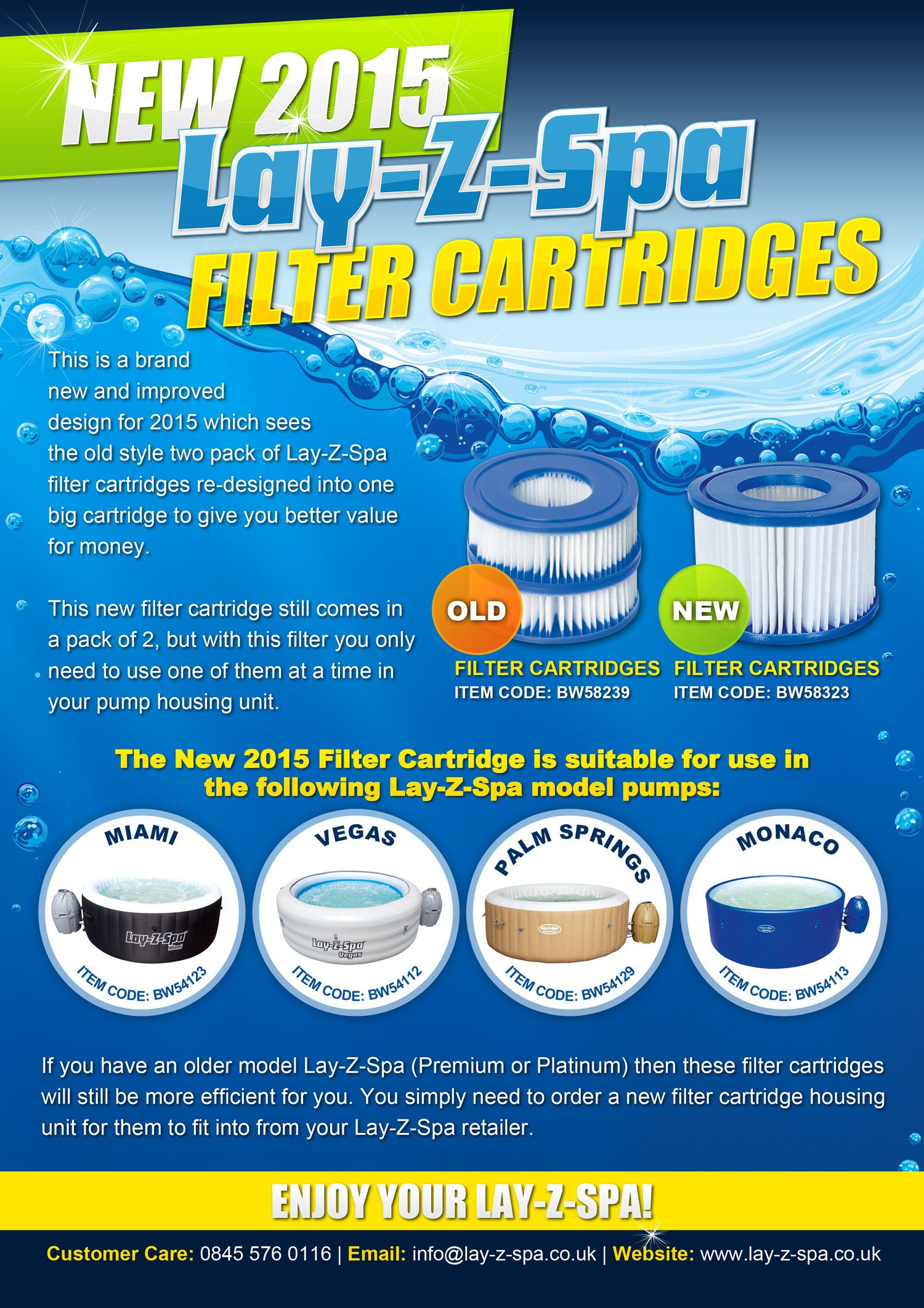How are the new layzspa filter cartridges different