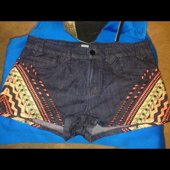 BDG Shorts - super posh! Like new denim shorts with embroidered pattern. Super cool! 98% cotton 2% spandex Make me an offer!  BDG Jeans
