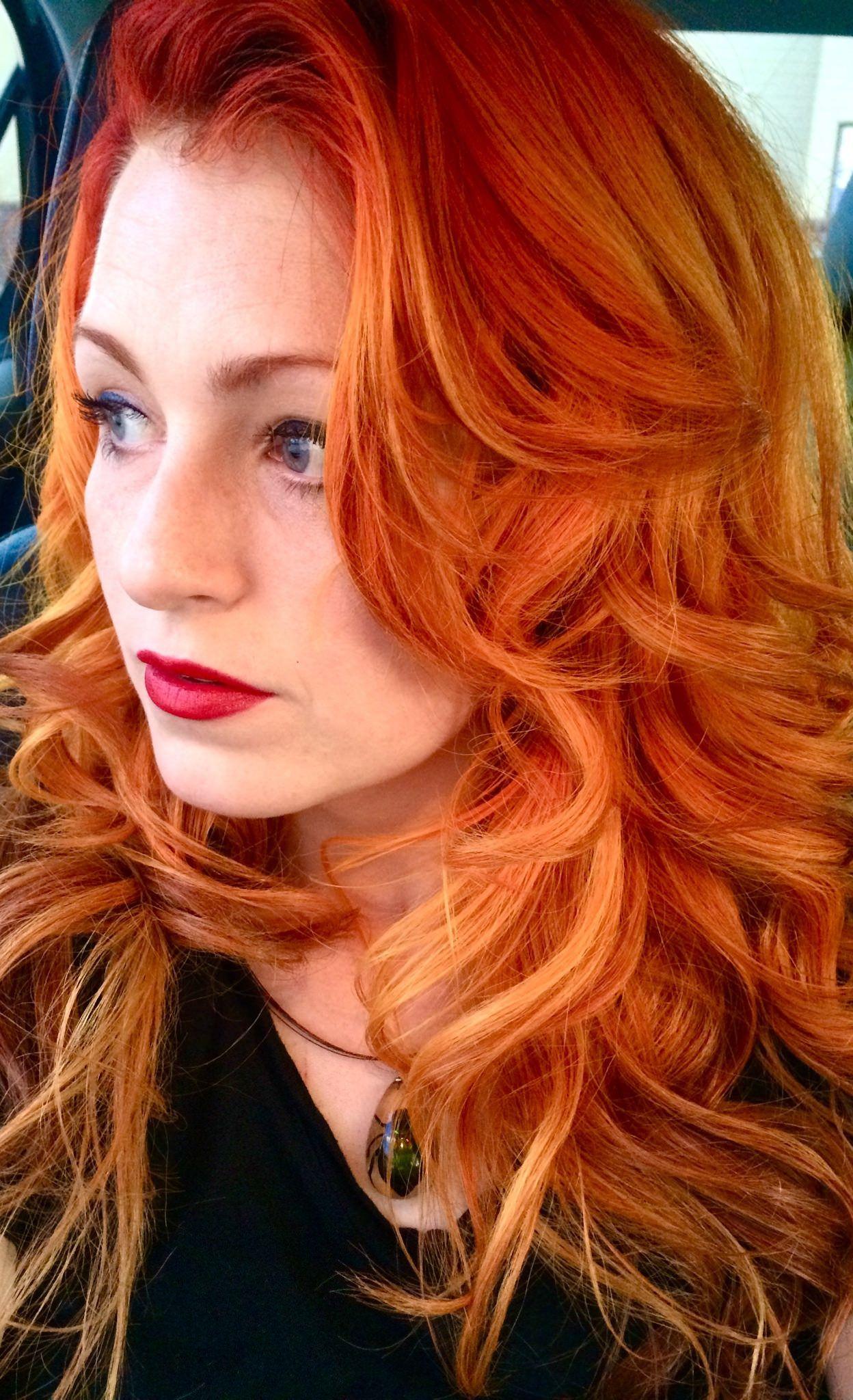 Www Outrageousrainbows Com Stylish Hair Balayage Hair Orange Ombre Hair