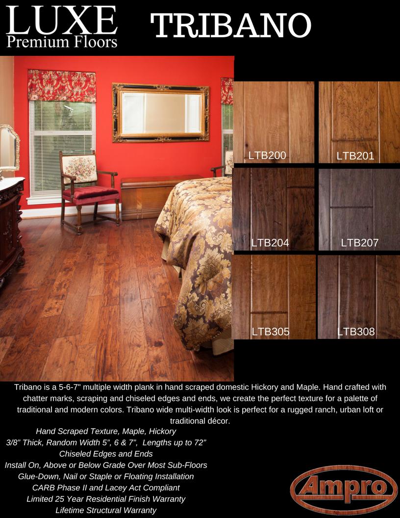 Luxe Premium Floors Tribano Series Bamboo Hardwood Flooring Hardwood Floors Flooring
