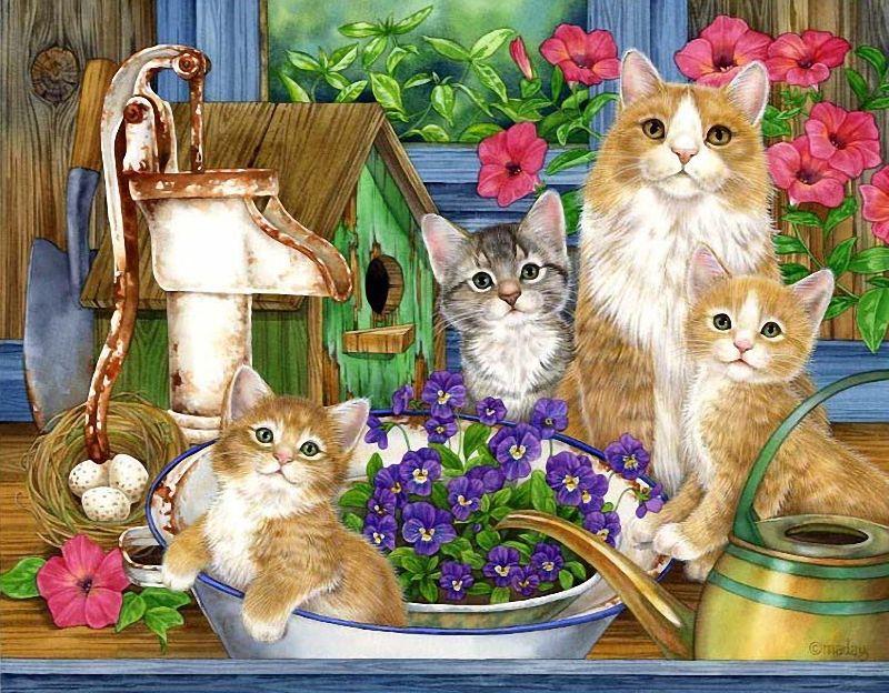 Картинки для малышей кошка и котята