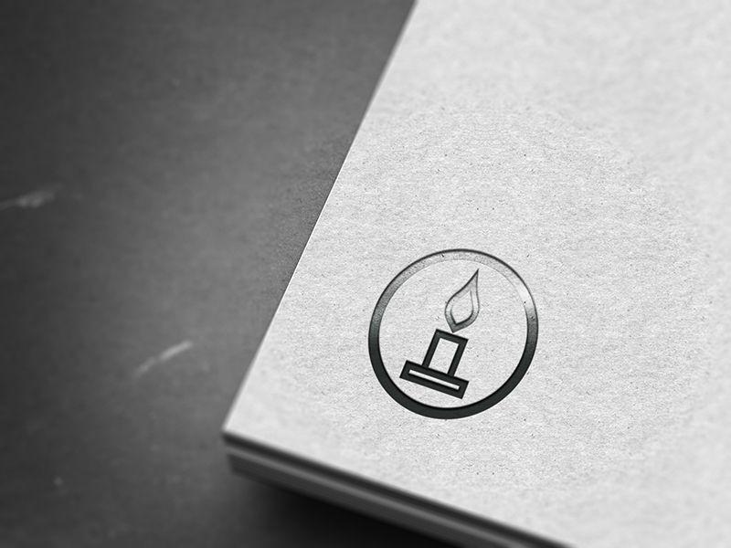 Retro Candle Candle Logo Candle Logo Design Logo Candle