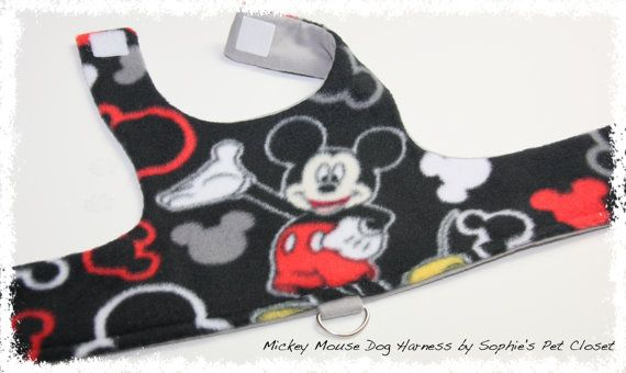 Mickey Mouse Dog Harness Xs S Disney Dog By Sophiespetcloset
