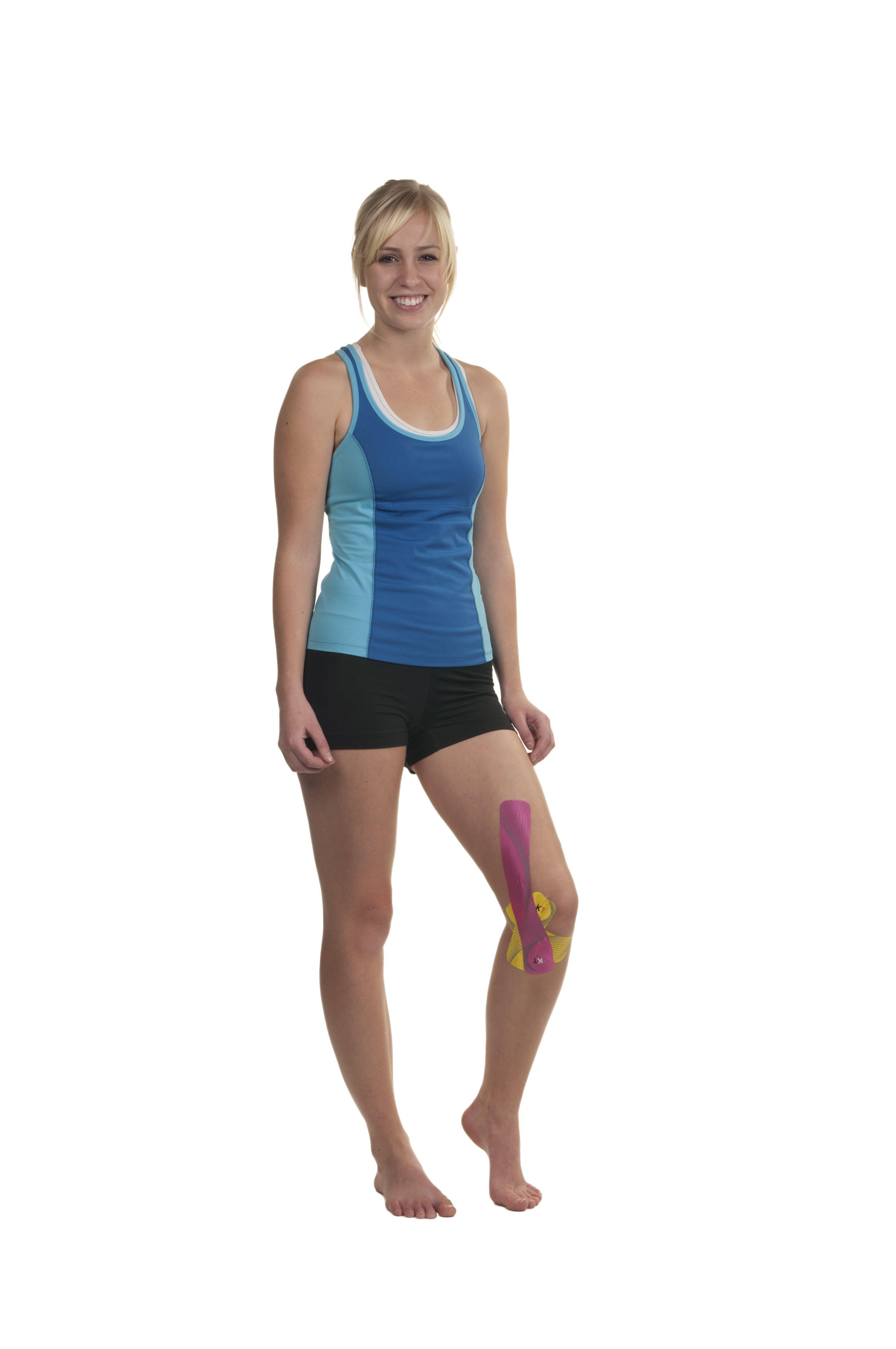Kt tape inner knee application knee taping kt tape