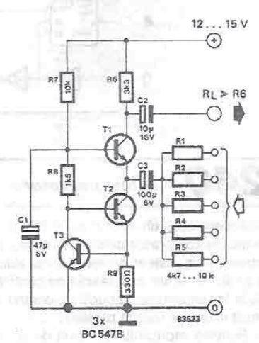 very simple audio mixer cir cuit circuits audio. Black Bedroom Furniture Sets. Home Design Ideas
