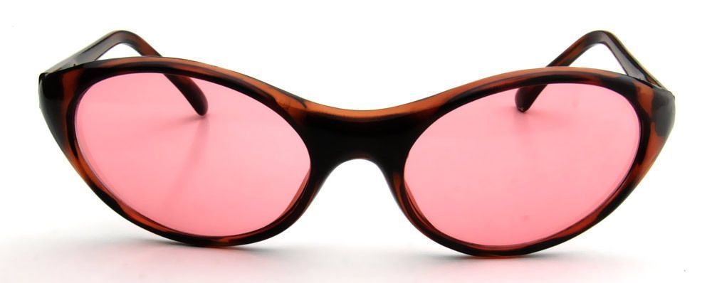 Sport Oval Sunglasses Brown Retro Style Men Women Vintage Fashion