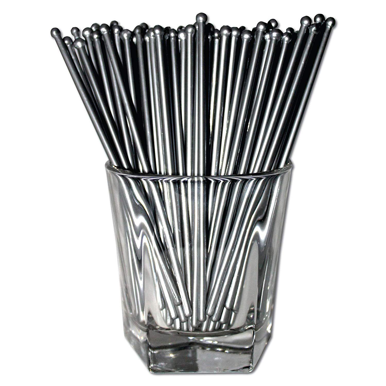 Royer 6 Inch Round Top Swizzle Sticks, Set of