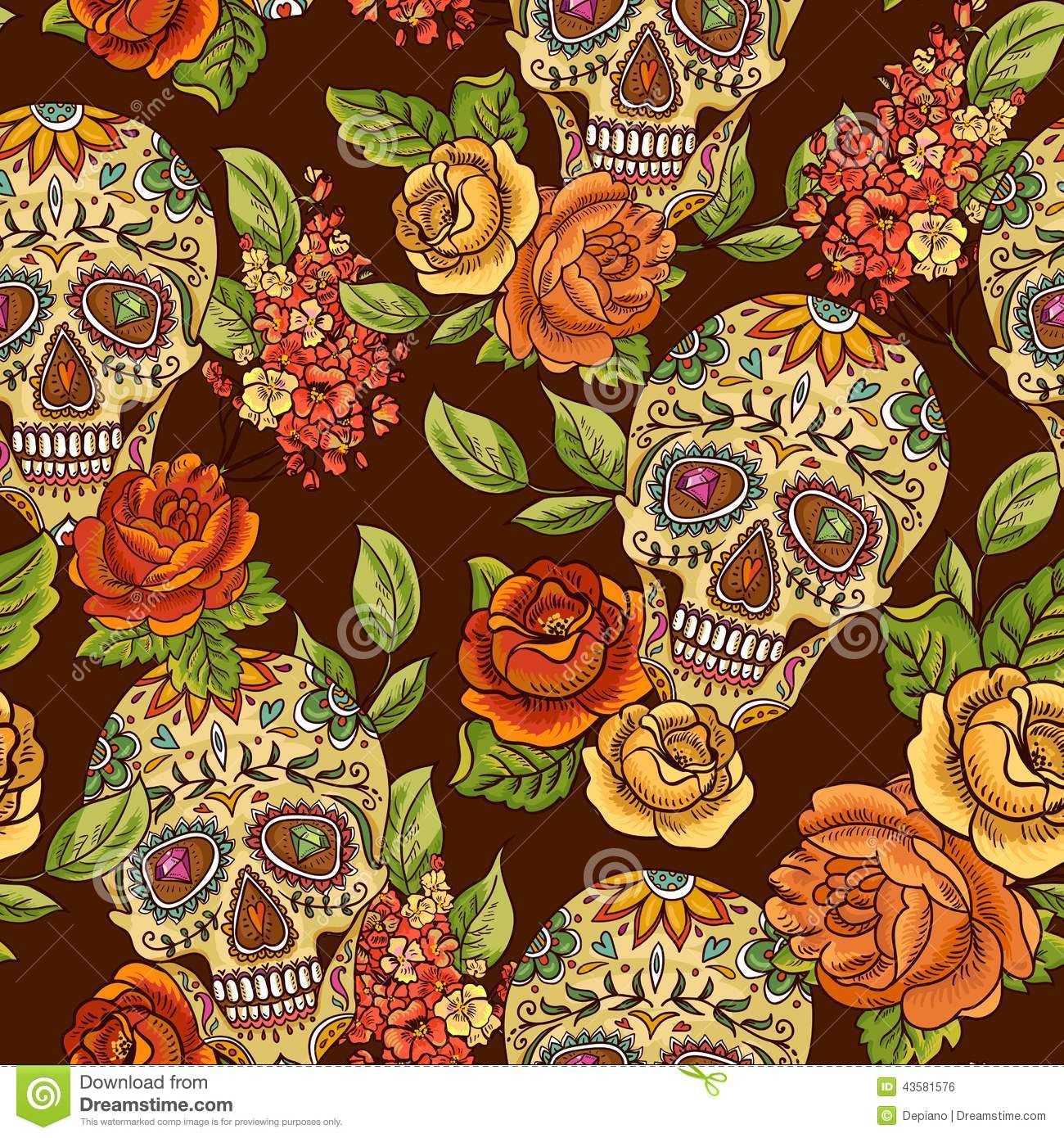 Day Of The Dead Patterns And Licensing Collections