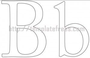 large and lowercase printable alphabet letter B pic | Kids